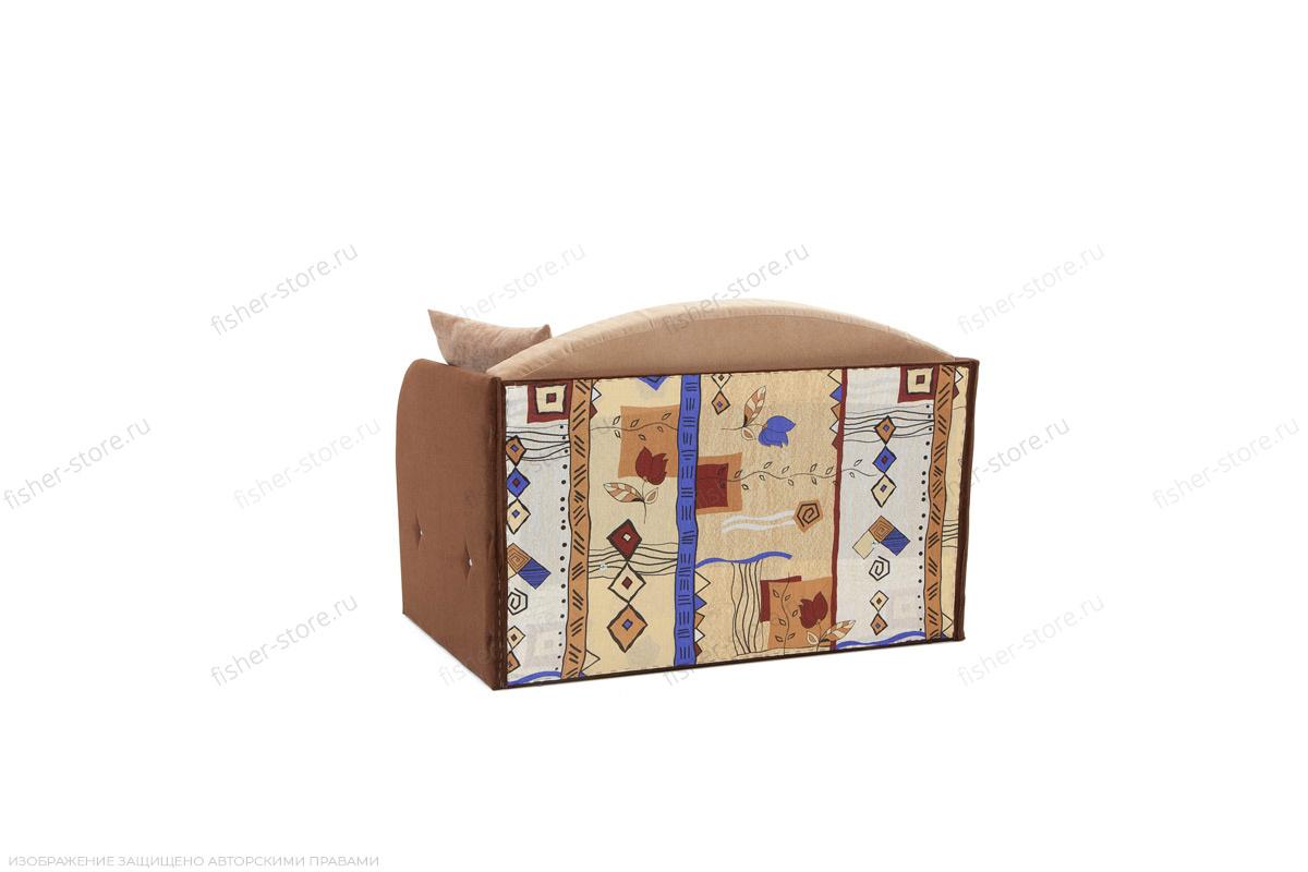 Прямой диван Кроха (100) Energy Beige + Energy Chocolate Вид сзади