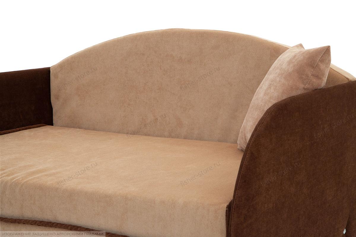 Прямой диван Кроха (100) Energy Beige + Energy Chocolate Подушки