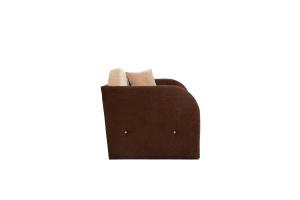 Прямой диван Кроха (100) Energy Beige + Energy Chocolate Вид сбоку