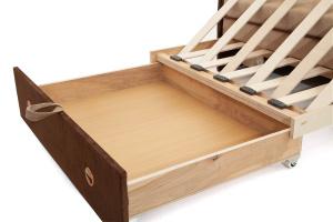 Прямой диван Кроха (100) Energy Beige + Energy Chocolate Ящик для белья