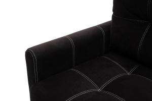 Прямой диван Мадрид люкс Maserati Black + Maserati White Подлокотник