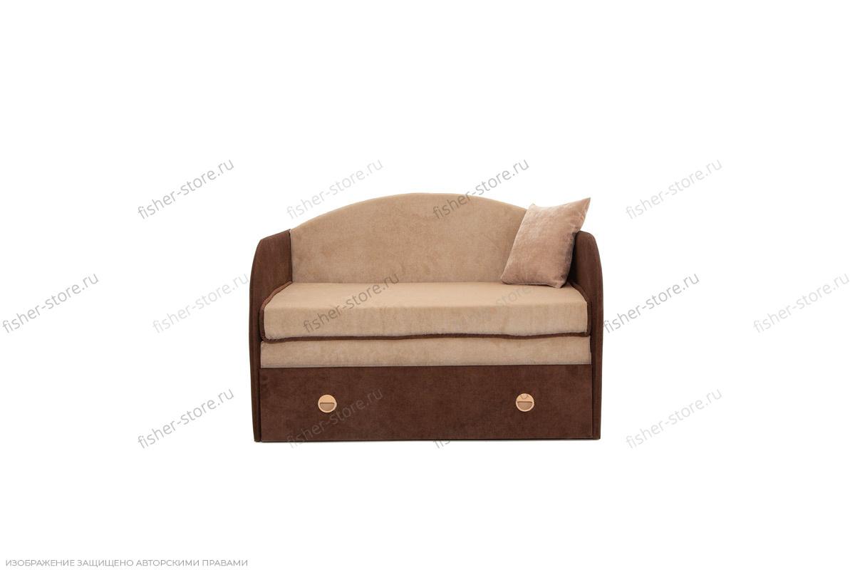 Прямой диван Кроха (100) Energy Beige + Energy Chocolate Вид спереди