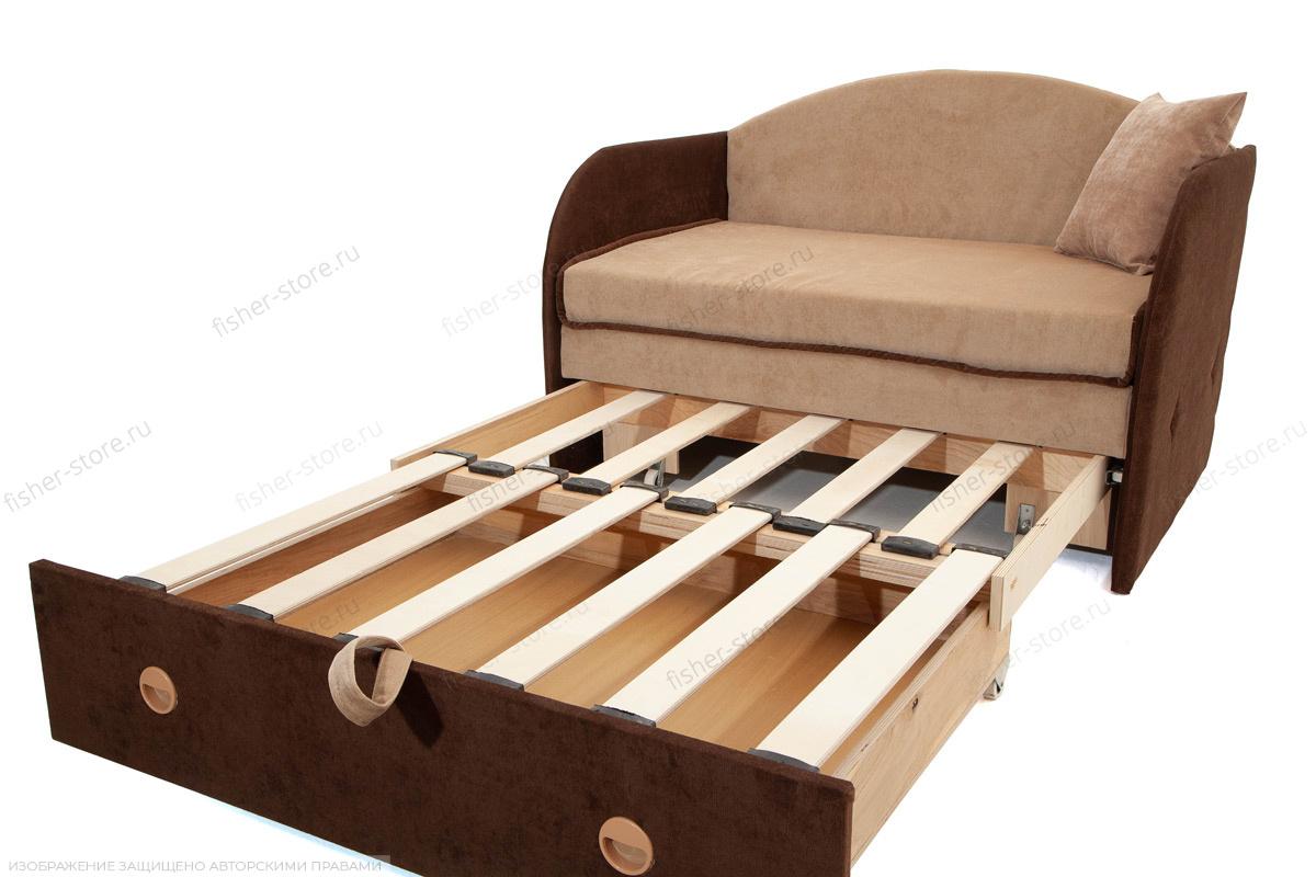 Прямой диван Кроха (100) Energy Beige + Energy Chocolate Механизм