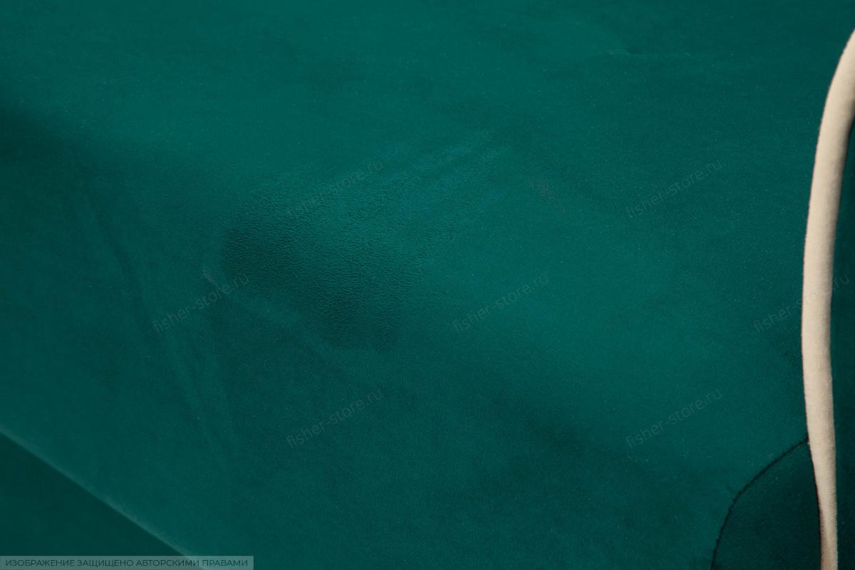 Прямой диван Милфорд Velutto Emerald + Velutto White Текстура ткани
