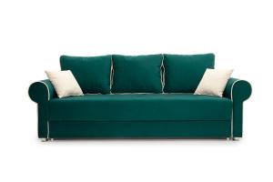 Прямой диван Милфорд Velutto Emerald + Velutto White Вид спереди