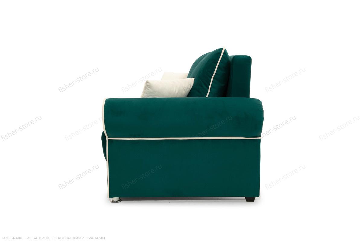 Прямой диван Милфорд Velutto Emerald + Velutto White Вид сбоку