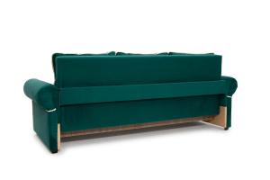 Прямой диван Милфорд Velutto Emerald + Velutto White Вид сзади