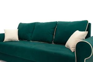 Прямой диван Милфорд Velutto Emerald + Velutto White Подушки