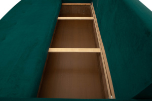 Прямой диван Милфорд Velutto Emerald + Velutto White Ящик для белья