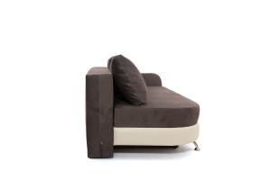 Двуспальный диван Прага-3 Amigo Chocolate + Sontex Beige Вид сбоку