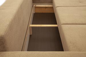 Прямой диван еврокнижка Селена-2 Golden Flece latte + Golden Fleece lungo Ящик для белья