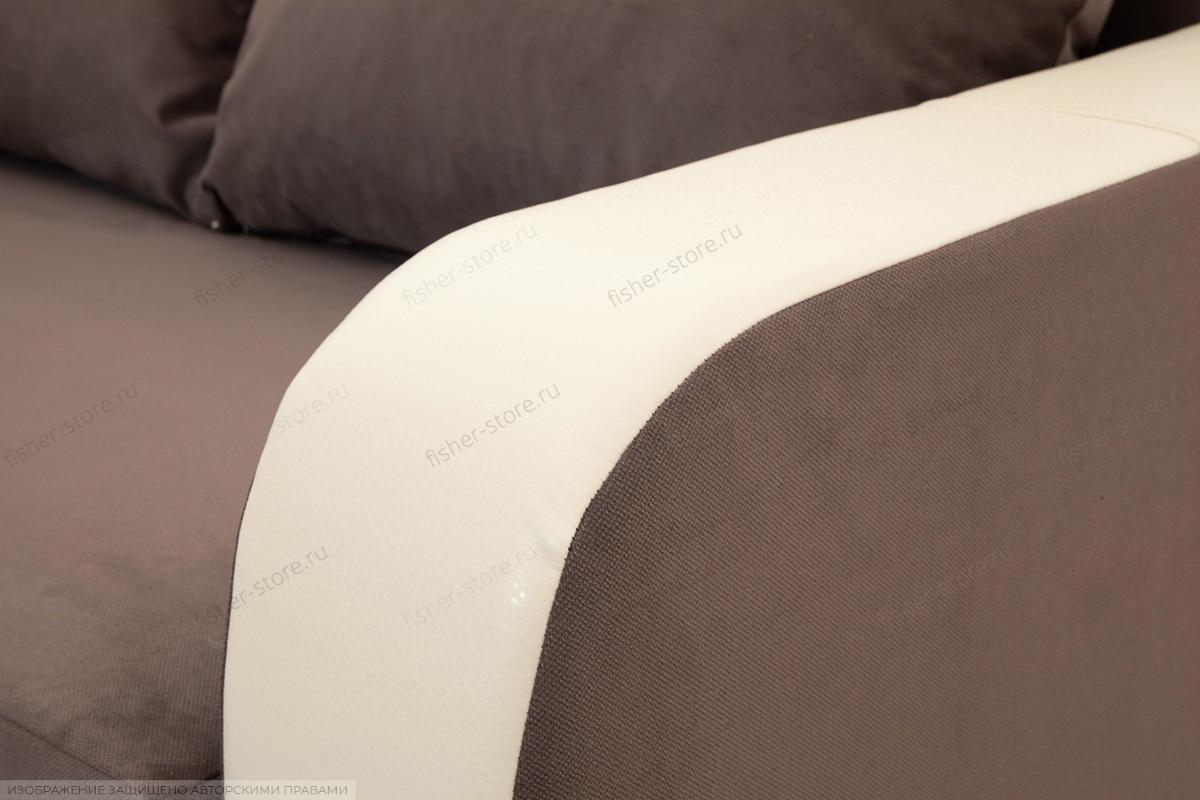 Двуспальный диван Прага-3 Amigo Chocolate + Sontex Beige Текстура ткани