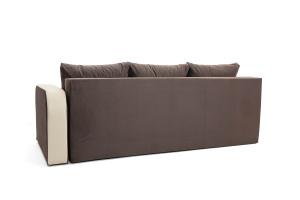Двуспальный диван Прага-3 Amigo Chocolate + Sontex Beige Вид сзади
