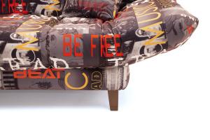Прямой диван Самурай с опорой №3 Music Grafit Ножки