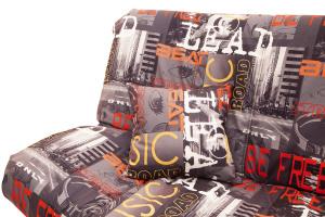Прямой диван Самурай с опорой №3 Music Grafit Подушки