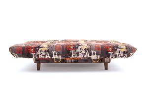 Прямой диван Самурай с опорой №3 Music Grafit Спальное место