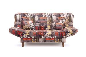 Прямой диван Самурай с опорой №3 Music Grafit Вид спереди