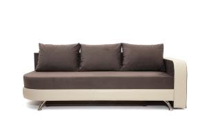 Двуспальный диван Прага-3 Amigo Chocolate + Sontex Beige Вид спереди