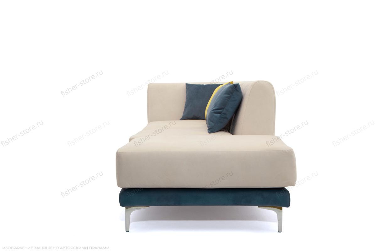 Двуспальный диван Релакс Amigo Bone + Maserati Blue + Maserati Yellow Вид сбоку