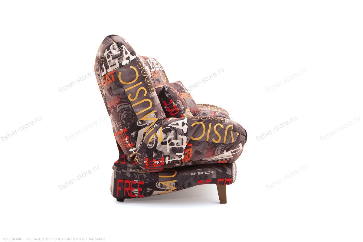 Прямой диван Самурай с опорой №3 Music Grafit Вид сбоку