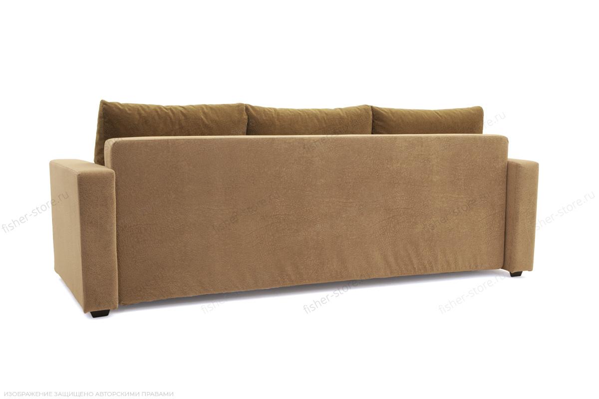 Прямой диван еврокнижка Селена-2 Golden Flece latte + Golden Fleece lungo Вид сзади