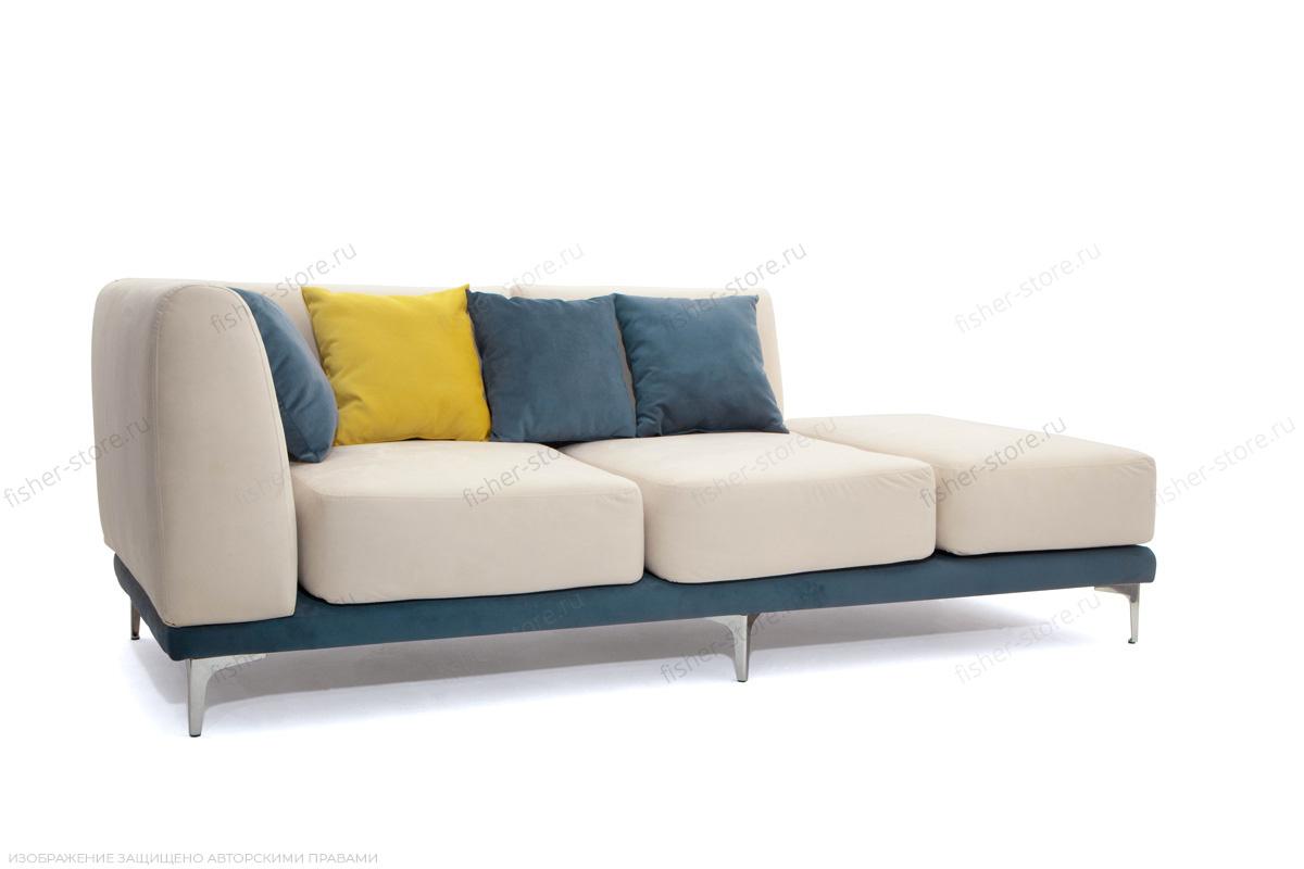 Двуспальный диван Релакс Amigo Bone + Maserati Blue + Maserati Yellow Вид по диагонали