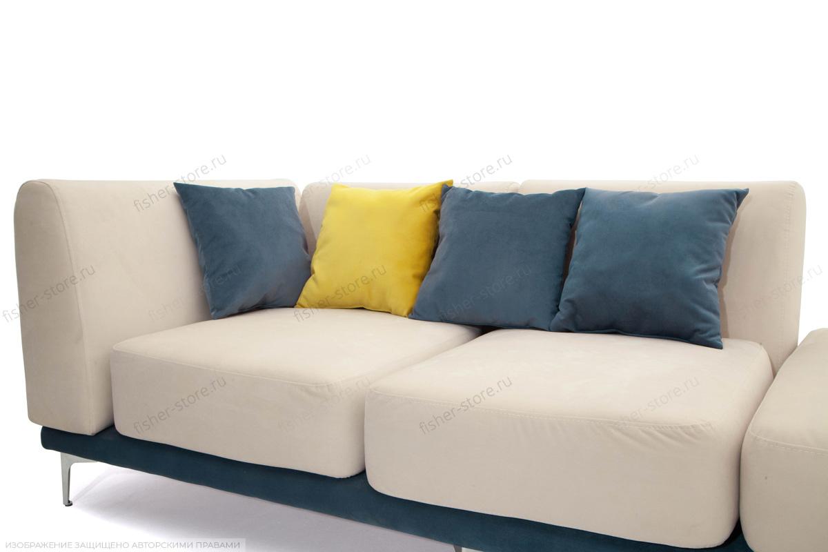 Двуспальный диван Релакс Amigo Bone + Maserati Blue + Maserati Yellow Подушки