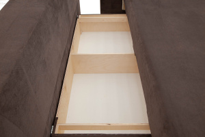 Двуспальный диван Прага-3 Amigo Chocolate + Sontex Beige Ящик для белья