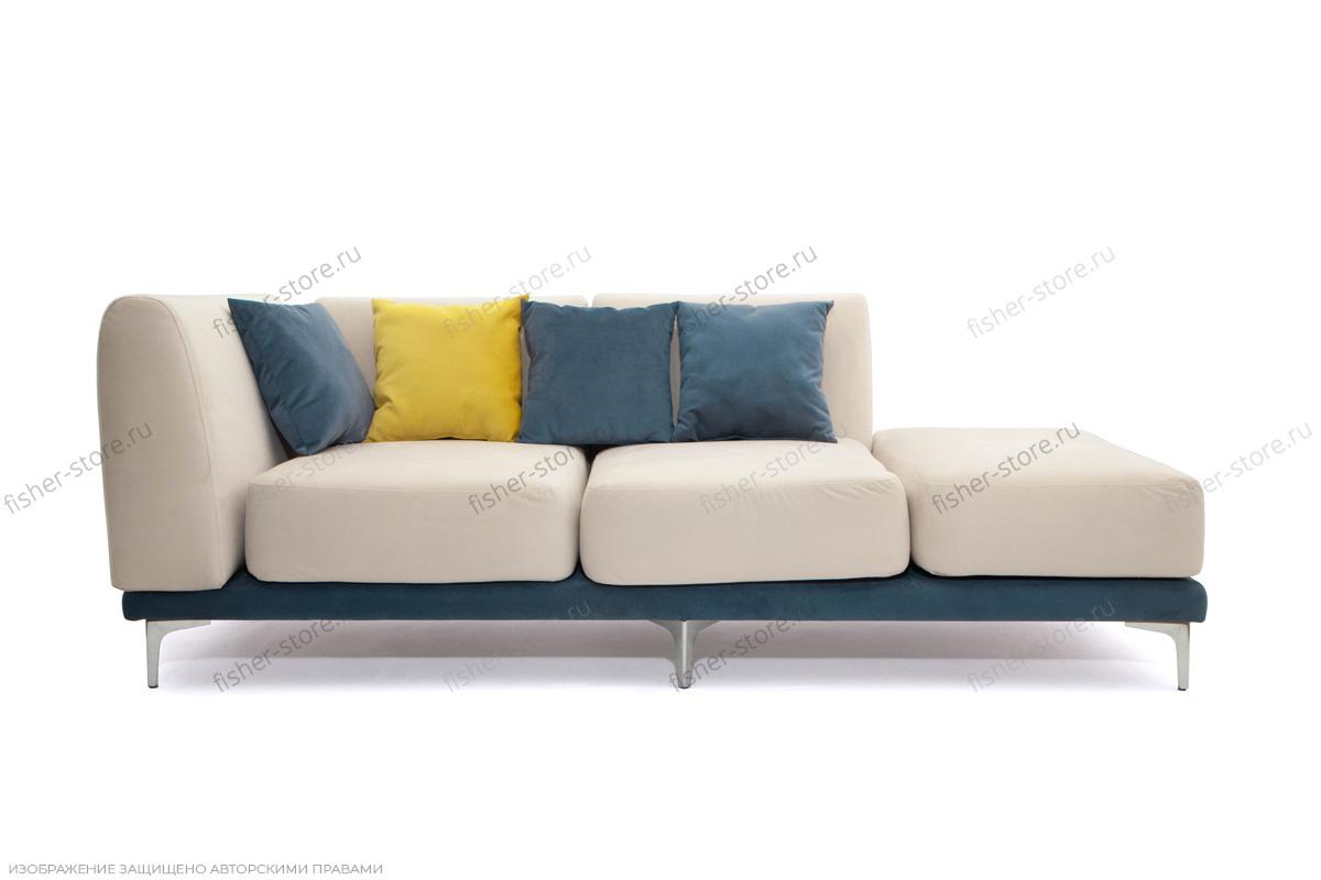 Двуспальный диван Релакс Amigo Bone + Maserati Blue + Maserati Yellow Вид спереди