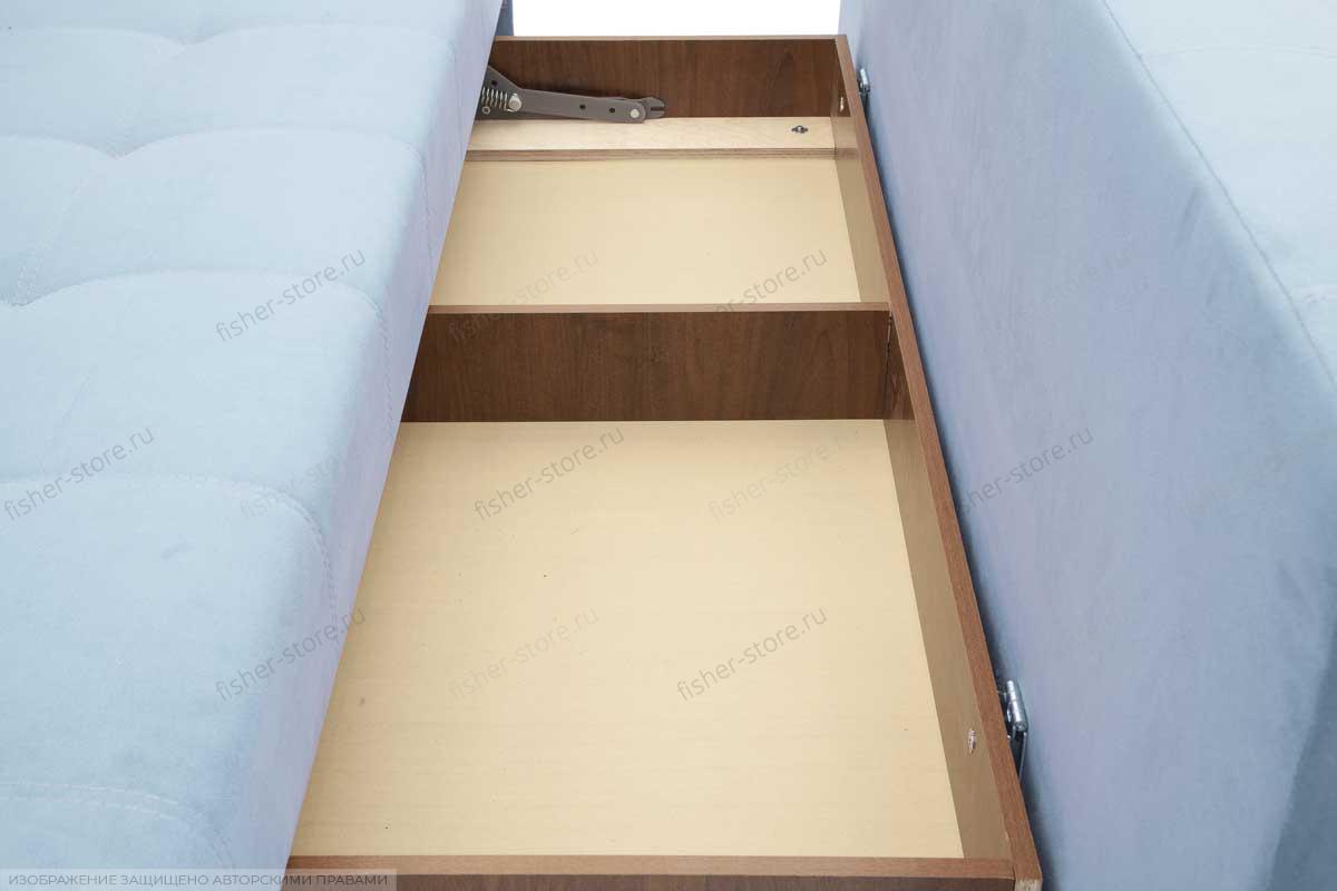 Прямой диван Фокс Amigo Blue Ящик для белья