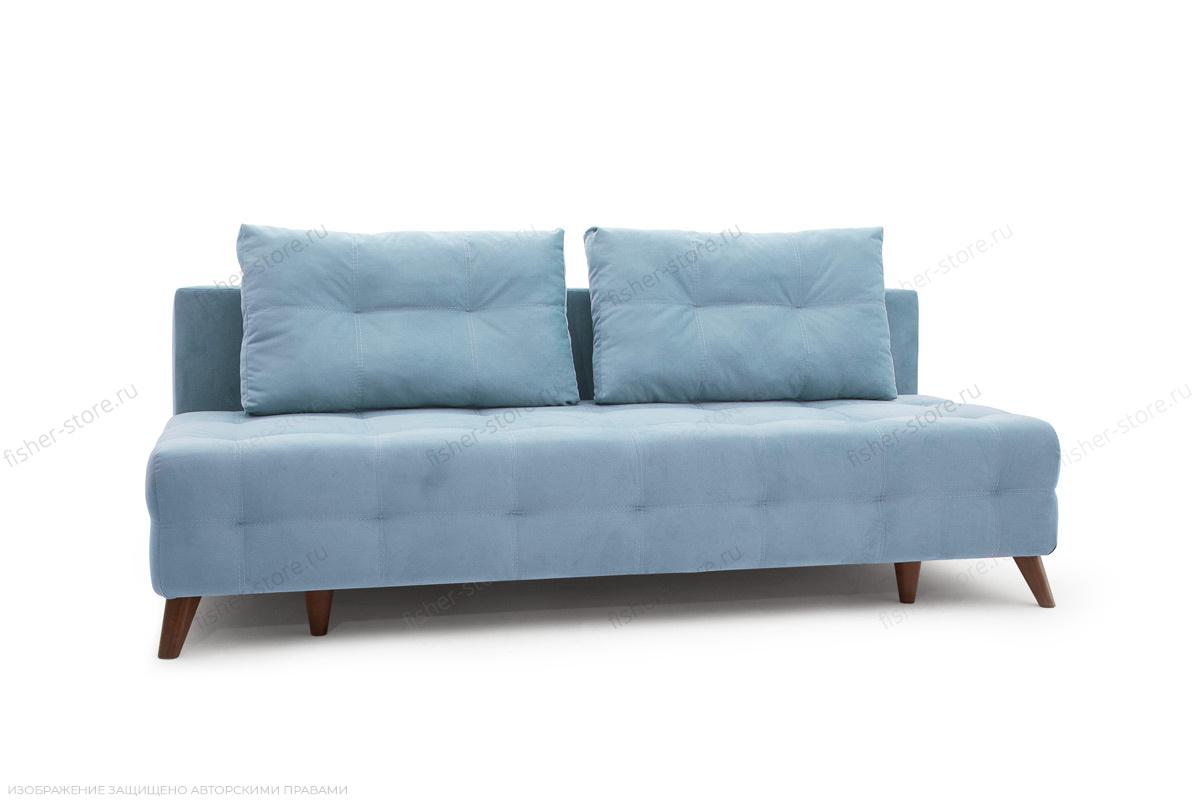 Прямой диван Фокс Amigo Blue Вид по диагонали