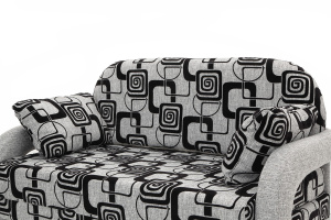 Прямой диван Чунга TV Grey + Big Grey Подушки