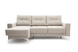 Угловой диван Джерси-6 с опорой №9 Maserati White Вид спереди