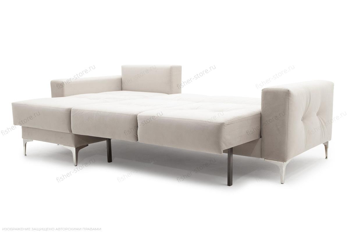 Угловой диван Джерси-6 с опорой №9 Maserati White Спальное место