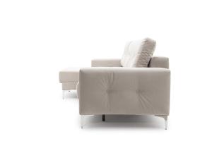 Угловой диван Джерси-6 с опорой №9 Maserati White Вид сбоку