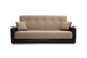 Прямой диван Шансон Amigo Latte + Sontex Umber Вид спереди