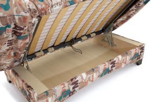 Прямой диван Элис с опорой №1 Army Beight Ящик для белья