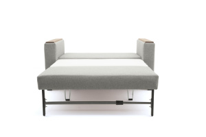 Прямой диван Этро-2 с опорой №1 Dream light grey Спальное место