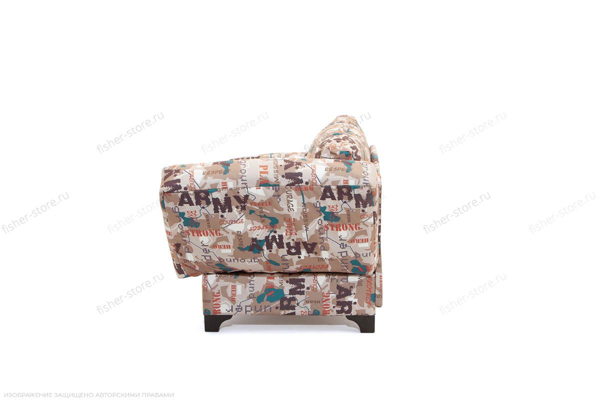 Прямой диван Элис с опорой №1 Army Beight Вид сбоку