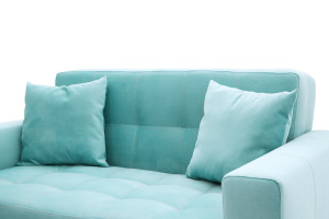 Прямой диван Этро люкс с опорой №1 Maserati Light blue Подушки