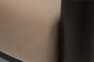 Прямой диван Шансон Amigo Latte + Sontex Umber Текстура ткани