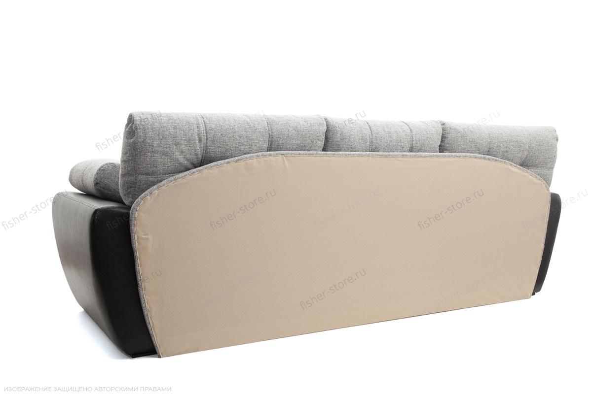 Двуспальный диван Император-2 Big Grey + Sontex Black Вид сзади