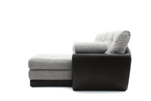Двуспальный диван Император-2 Big Grey + Sontex Black Вид сбоку