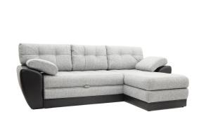 Угловой диван Император-2 Big Grey + Sontex Black Вид по диагонали