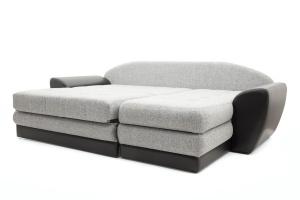 Угловой диван Император-2 Big Grey + Sontex Black Спальное место