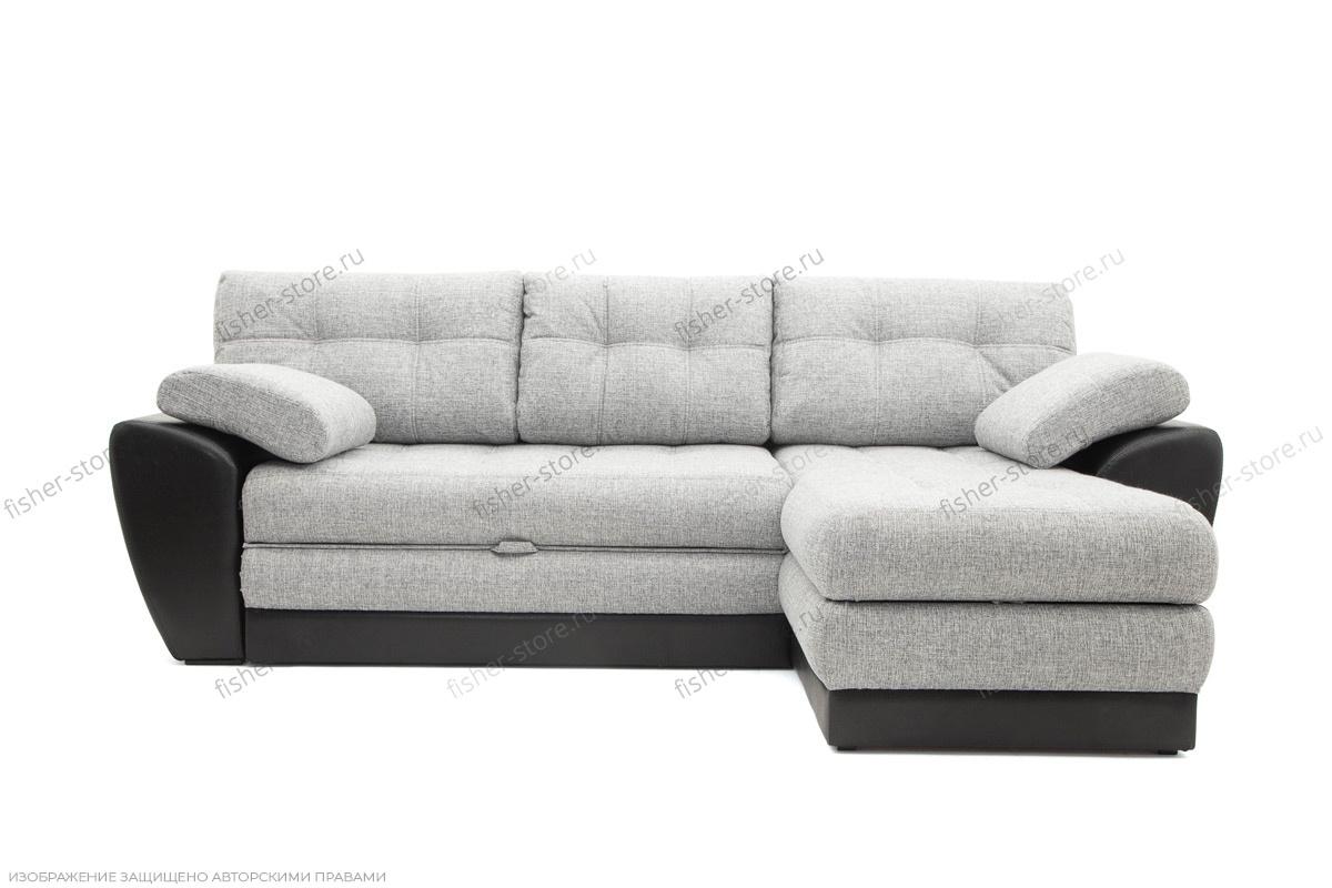 Угловой диван Император-2 Big Grey + Sontex Black Вид спереди