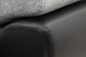 Угловой диван Император-2 Big Grey + Sontex Black Текстура ткани