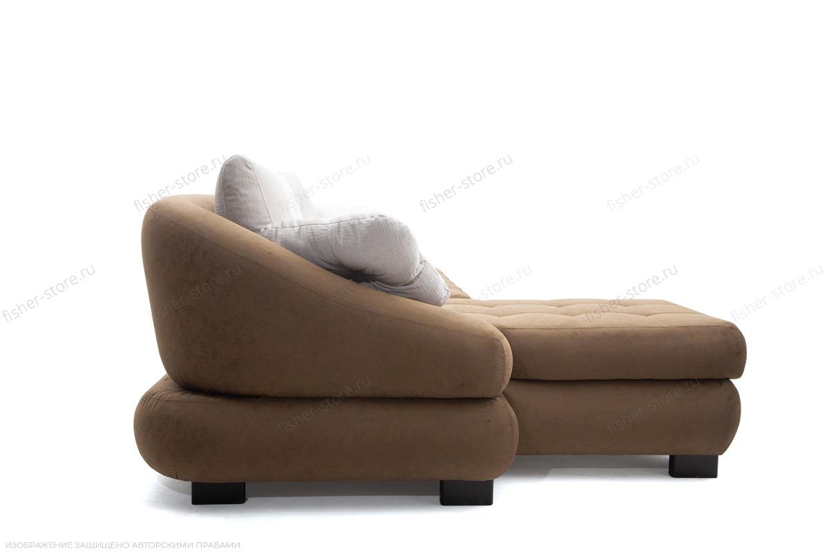 Угловой диван Премиум Medly Chocolate + Medly Bone Вид сбоку