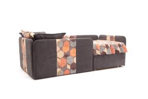 Двуспальный диван Экзотика Citus Grafit + Geometry Brown Вид по диагонали