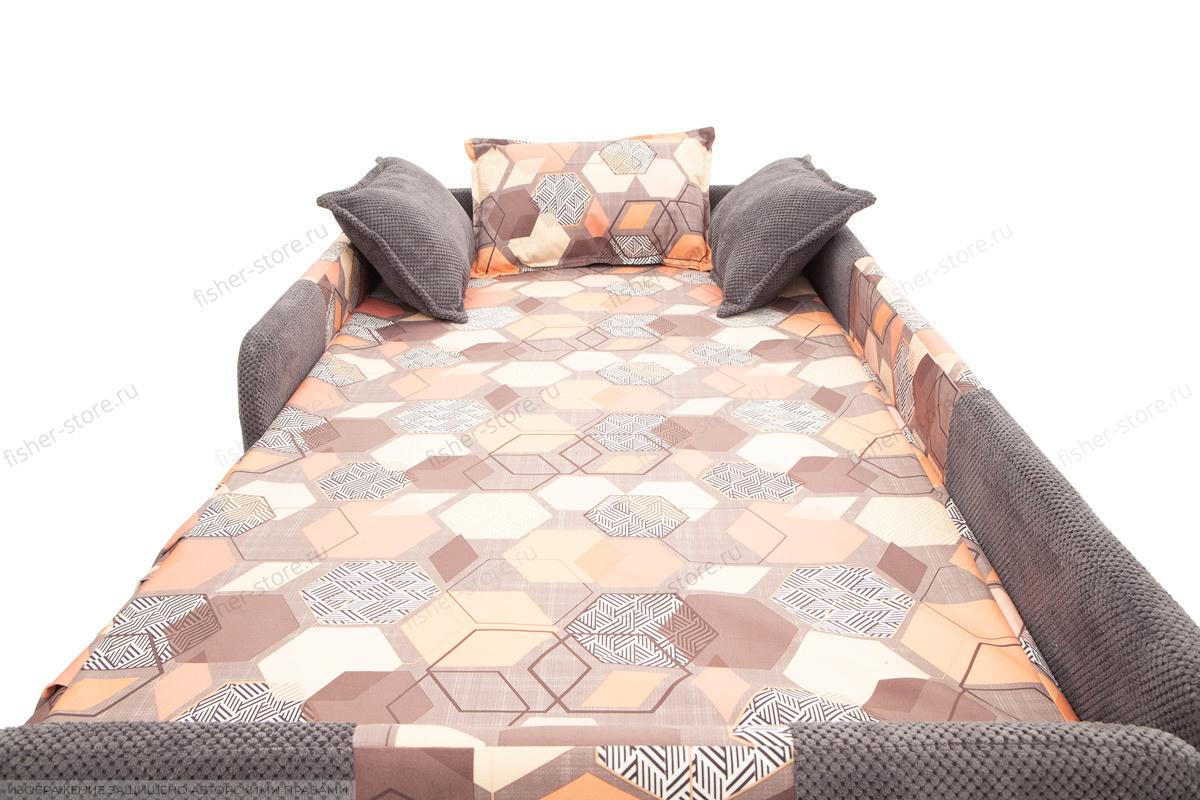 Двуспальный диван Экзотика Citus Grafit + Geometry Brown Подушки